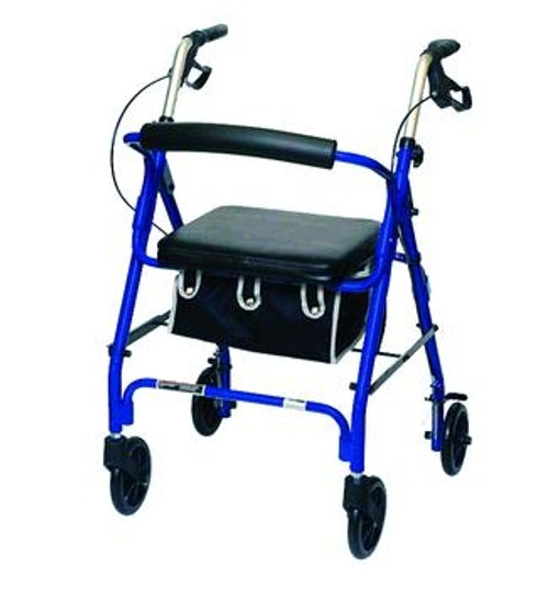 junior sized rollator w/ loop brakes & basket