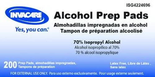 invacare alcohol prep pads
