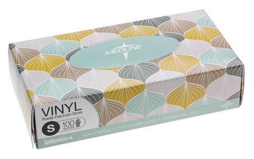 Designer Boxed Vinyl Exam Gloves, Clear