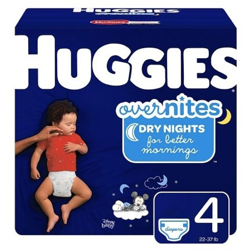 Huggies Baby-Shaped Overnite Diapers