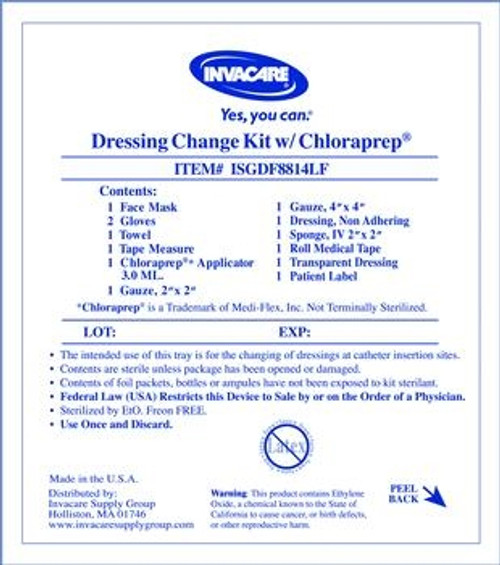 Central Line Dressing Change Kit with Chloraprep