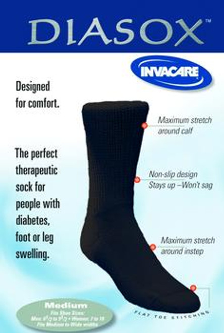Invacare Diasox Diabetic Socks