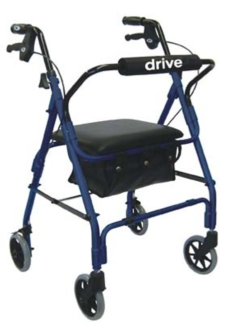 Drive Deluxe Aluminum Rollator with Padded Seat