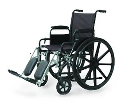 Economy Wheelchair with Fixed arm and Elevating Leg rest