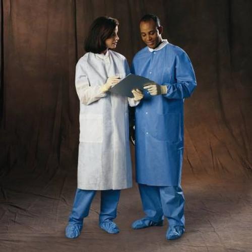 Lab Coat Blue Large Long