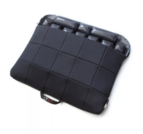Black Quilted Fabric LTV Seat Cushion