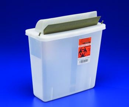 In-Room Sharps Containers with Mailbox-Style Lid