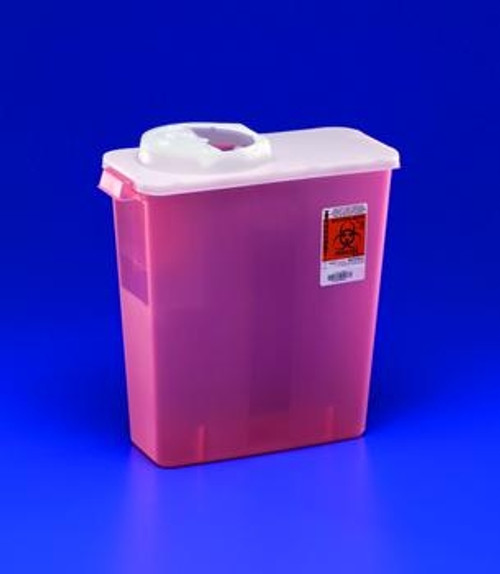 DialySafety Dialysis Sharps Disposal Containers with Rotor & Hinged Opening Lid