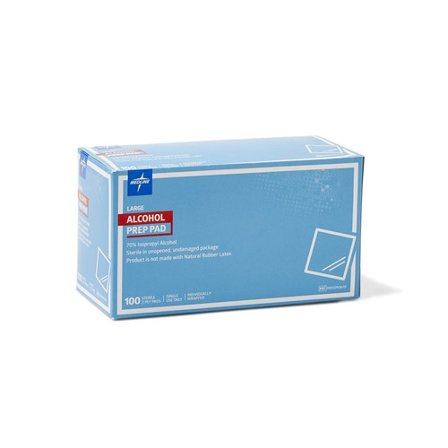 Medline Sterile Alcohol Prep Pads, Large