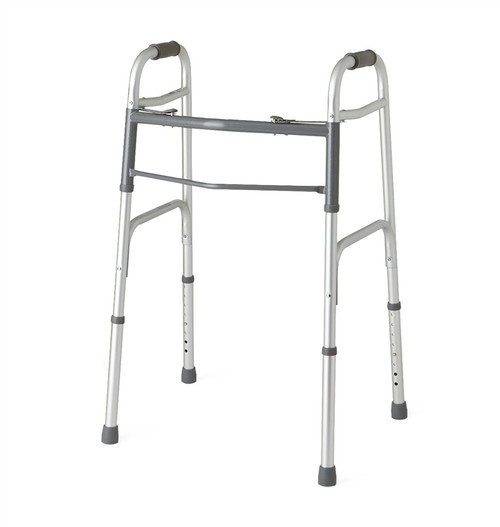 """Two-Button Folding Walkers without Wheels, 3"""" OR 5"""""""