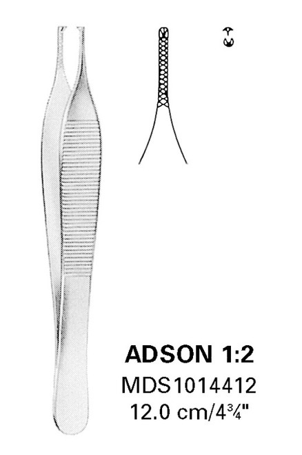 Adson Straight Tissue Forceps