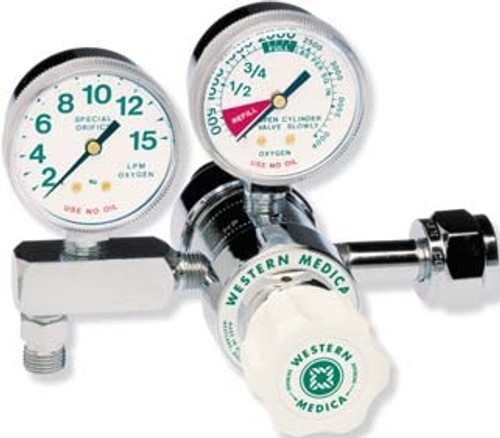 Oxygen Pressure Regulator Dual Stage Adjustable