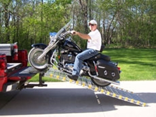 motorcycle loading ramp system
