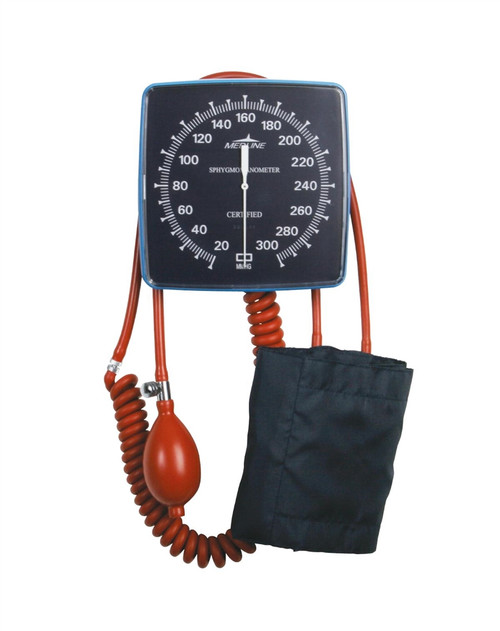 Latex-Free Wall Mount Aneroid Blood Pressure Monitor, Adult