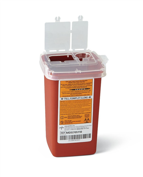 Phlebotomy Sharps Containers, Red, 1 QT