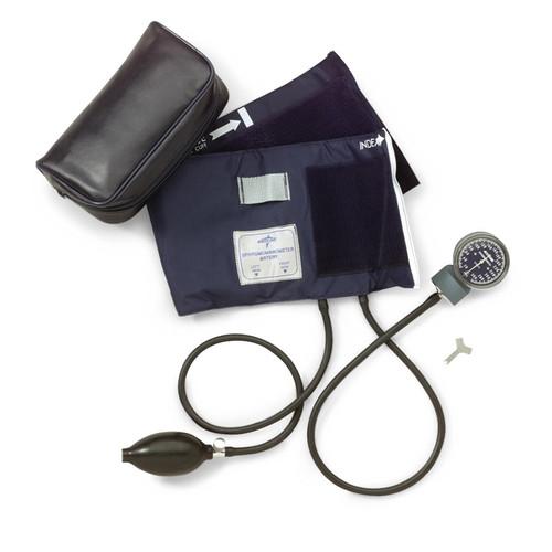 Medline Handheld Aneroid, Black, Large Adult