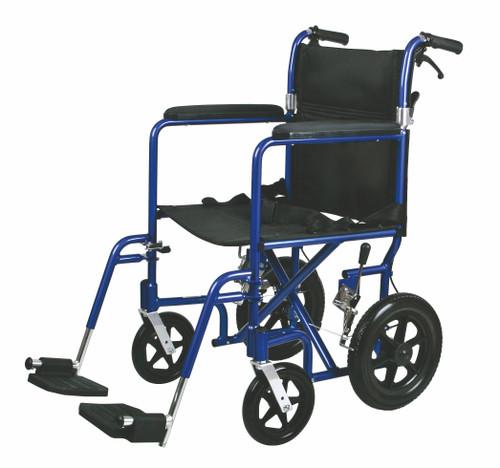 Deluxe Aluminum Transport Wheelchair