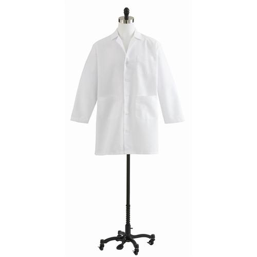 Men's Poplin Staff Length Lab Coats, White