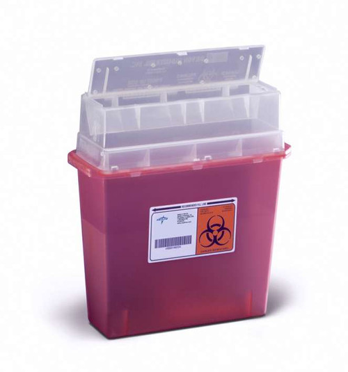 Patient Room Sharps Containers - 5 qt, Wall Mount