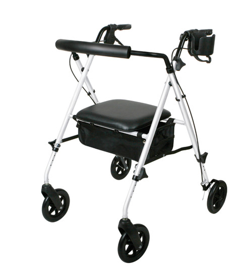 Deluxe Rollator with Adjustable Seat