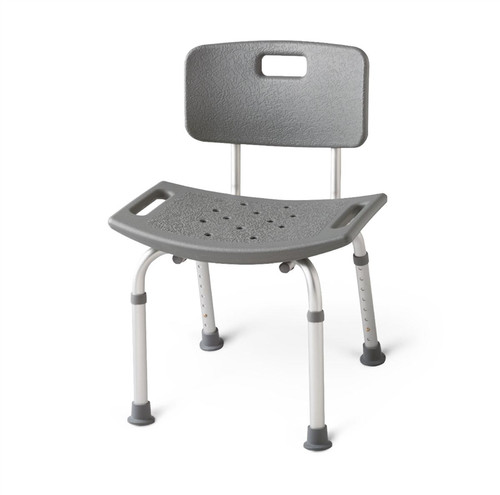 Aluminum Bath Benches with Back, White