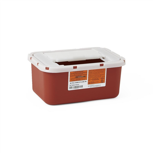 Multipurpose Sharps Containers, Red, 4 QT