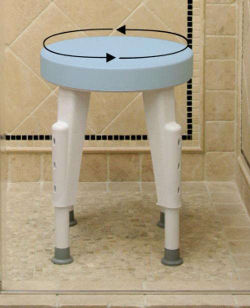 Rotating Round Shower Stool