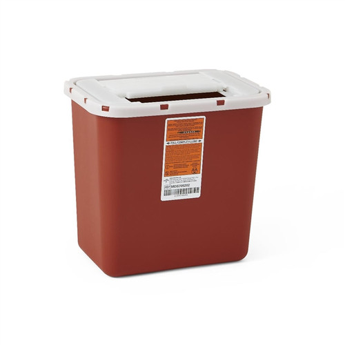 Multipurpose Sharps Containers, Red, 8 QT
