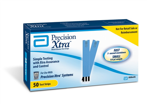 Precision Xtra Glucose Monitoring System Test Strips