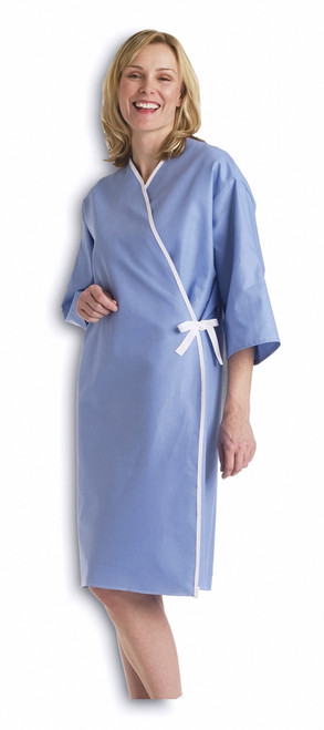 Front Opening Exam Gowns, Blue