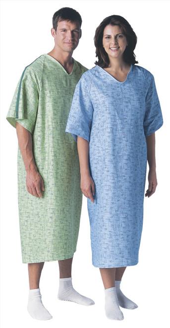 Cascade Print Deluxe Cut Gowns - Patient Gown