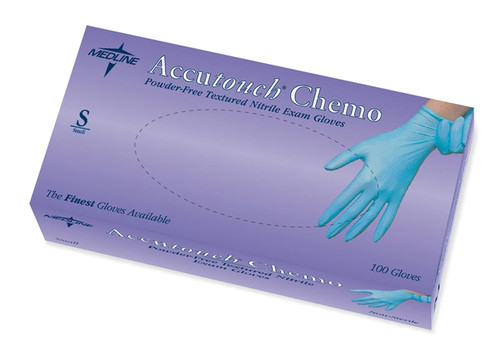 Accutouch Powder-Free Latex-Free Nitrile Exam Gloves, Blue by Medline