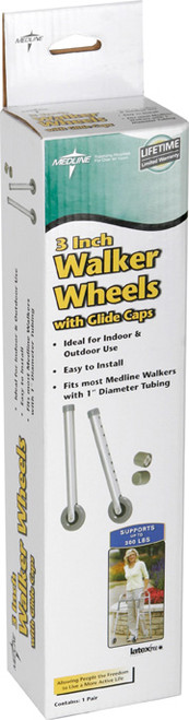 "3"" Walker Wheels with Glide Caps"
