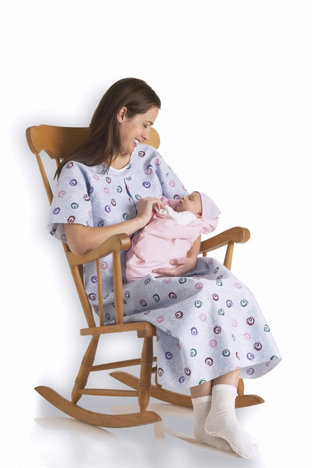 Mother's IV Gowns, Swirl Print