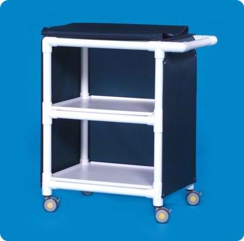 MRI Compatible 2 Shelf Cart, 26 X 20 Shelves