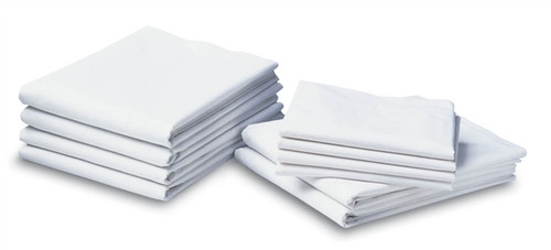 Muslin Draw Sheets, White