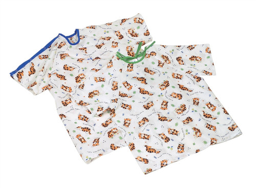 Tired Tiger Print Pediatric Gowns, Tired Tiger Print
