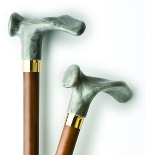 wood cane with contour handle