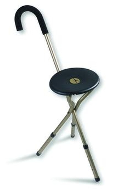 tri-seat adjustable seat cane