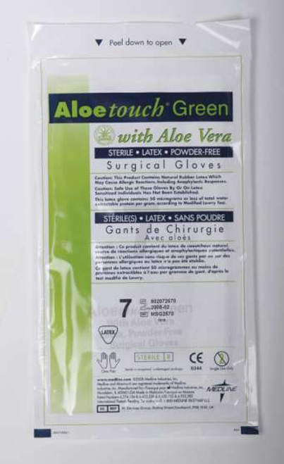 Aloetouch Green Surgical Gloves