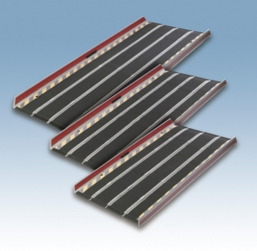 DecPac Portable Fiberglass Ramp with Edge Barrier