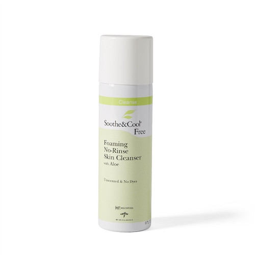 Soothe & Cool Foaming No-Rinse Skin Cleanser, 8 OZ