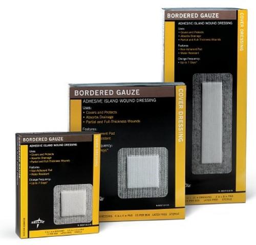 Adhesive Dressing Medline NonWoven Square White Sterile