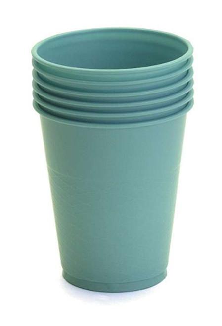 Translucent Blue Plastic Cups