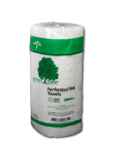 Green Tree Perforated Roll Towel
