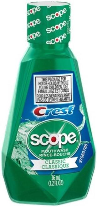 Mouthwash Crest Scope Classic Original Mint Flavor