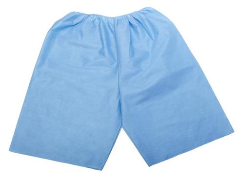 Disposable Exam Shorts, Blue