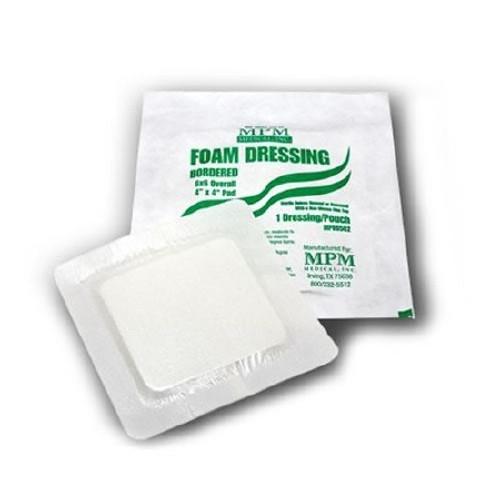 Foam Dressing MPM Square Adhesive with Border Sterile