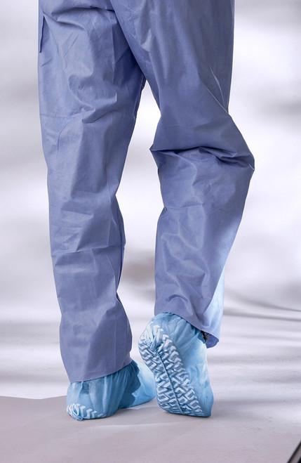 Non-Skid Spunbond Shoe Covers, Blue