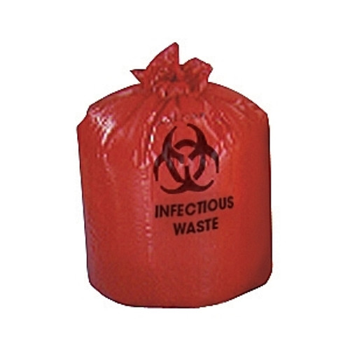 Low Density Red/Biohazard Liners, Red